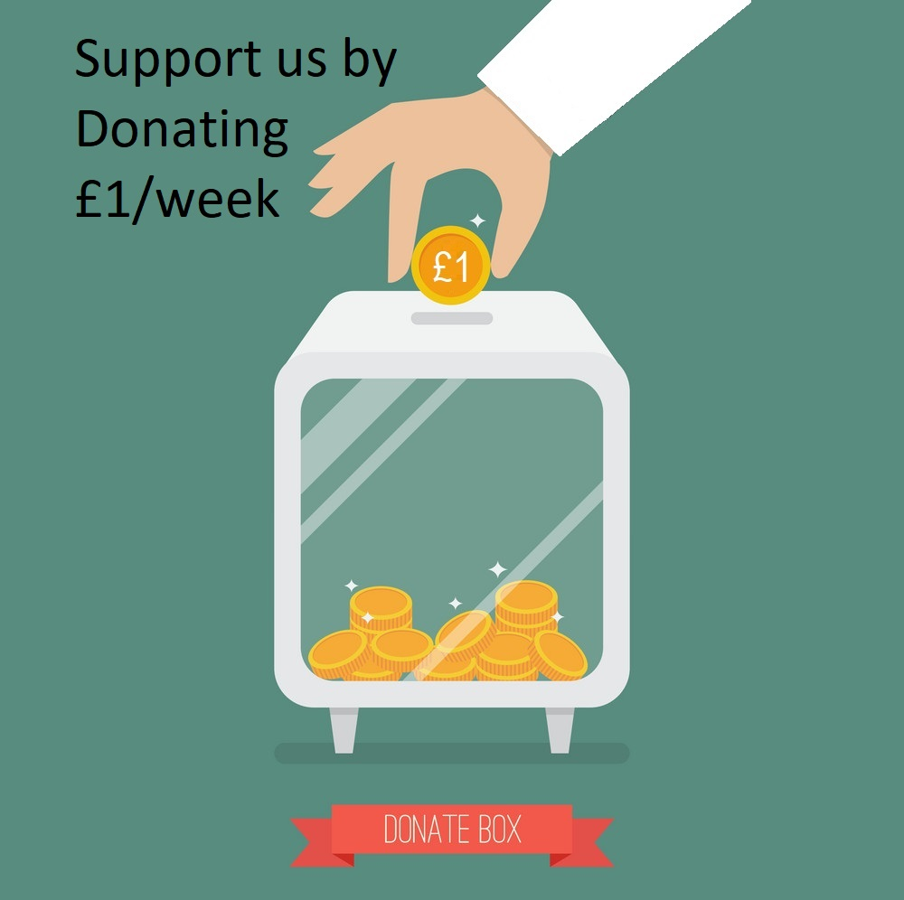 Support BIS by Donating £1/week